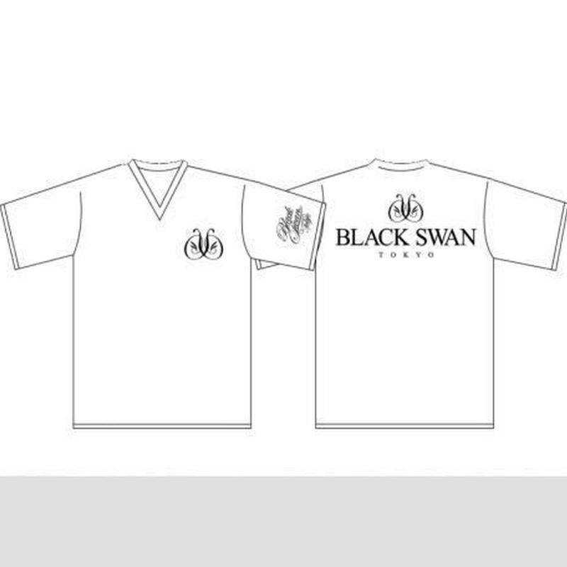 Tシャツ Vネック(半袖) BLACK SWAN(white)