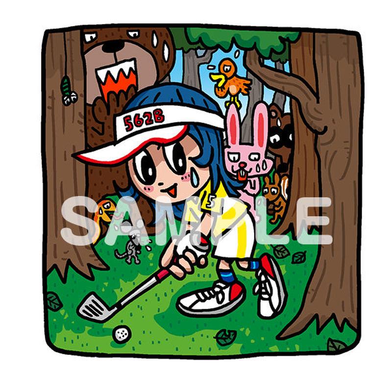 野村タケオオリジナルイラスト「森のトラブルショット」