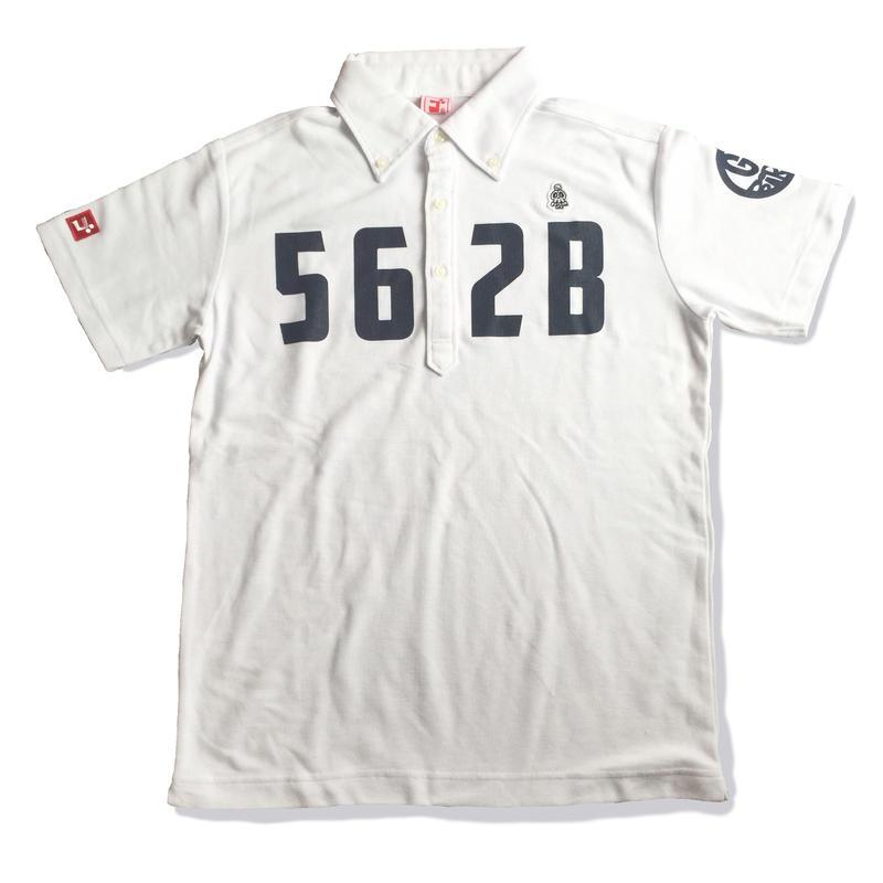 野村タケオデザイン562Bポロシャツ ホワイト