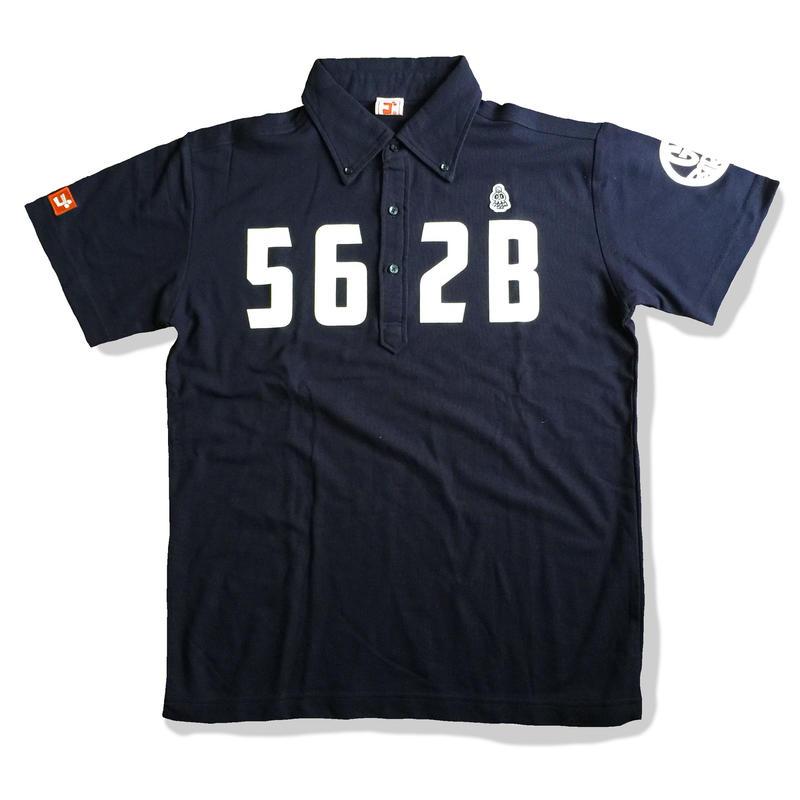 野村タケオデザイン562Bポロシャツ ネイビー