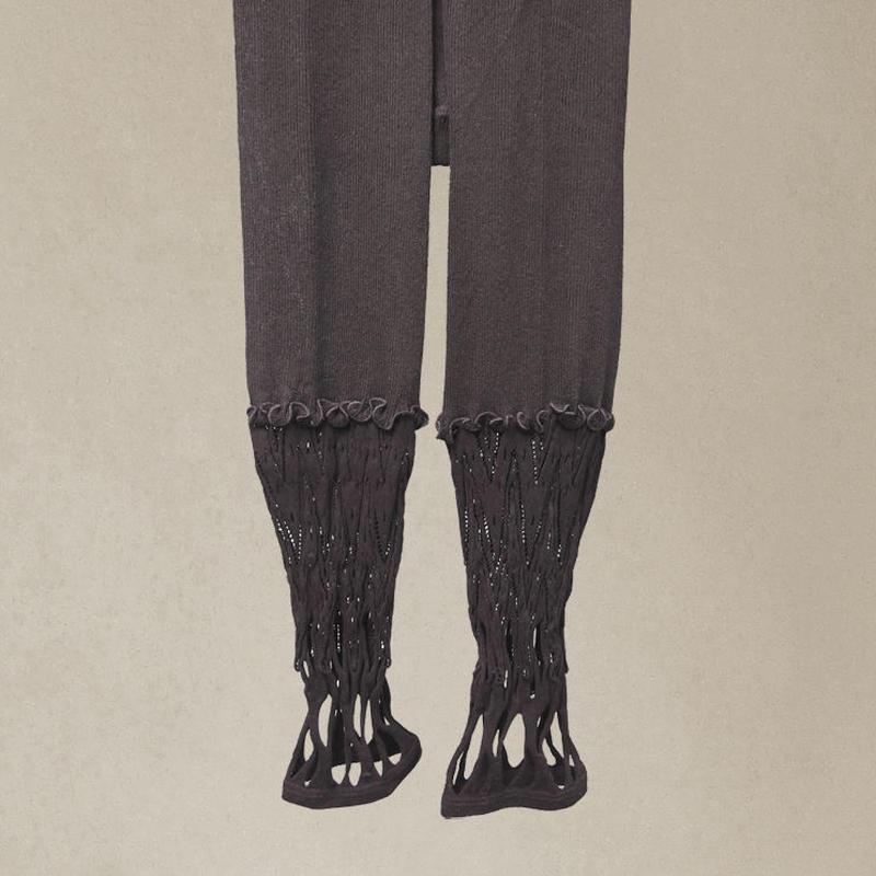 【nonnette】 Combination Leggings NL058R- 99/ black