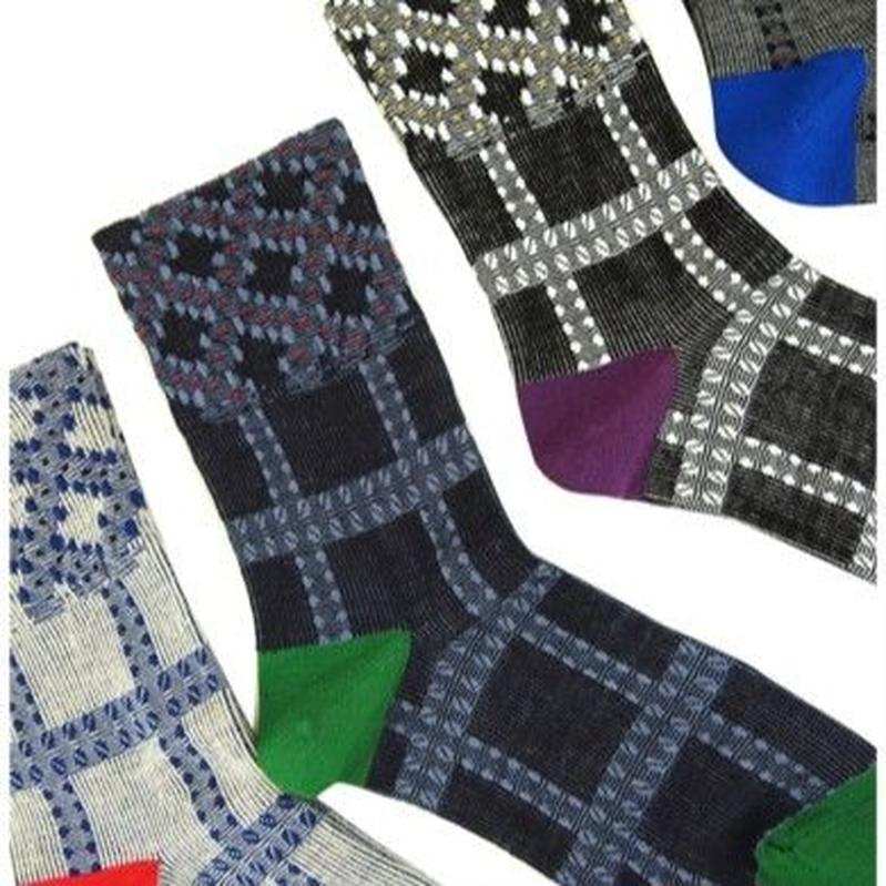 【nonnette】Plaid Socks NS210T- 4color