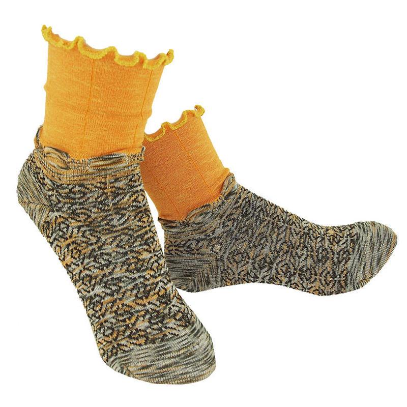 【nonnette】 Kururin  Socks      NS227G- 13/ marmalade