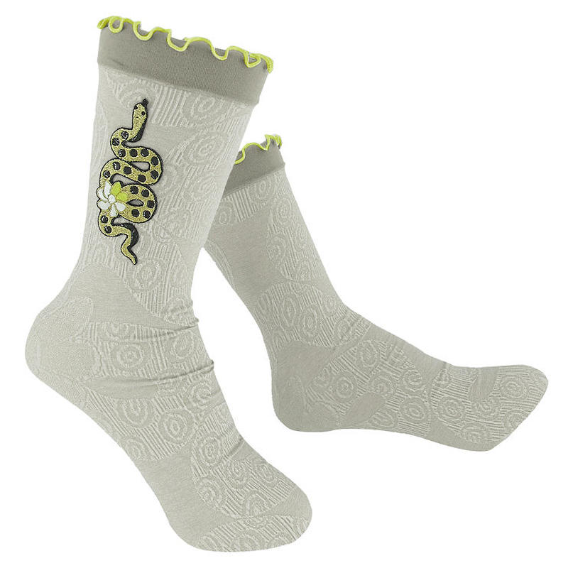 【nonnette】  Golden snake  Socks      NS217R- 11