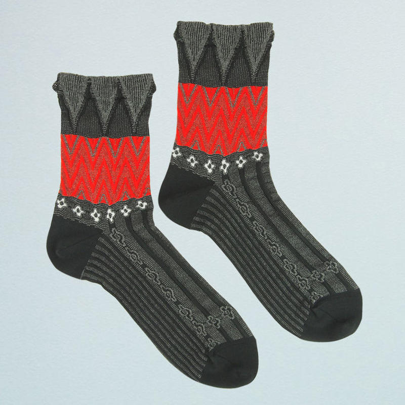 【nonnette】 Herringbones  Socks      NS221T- 99/black