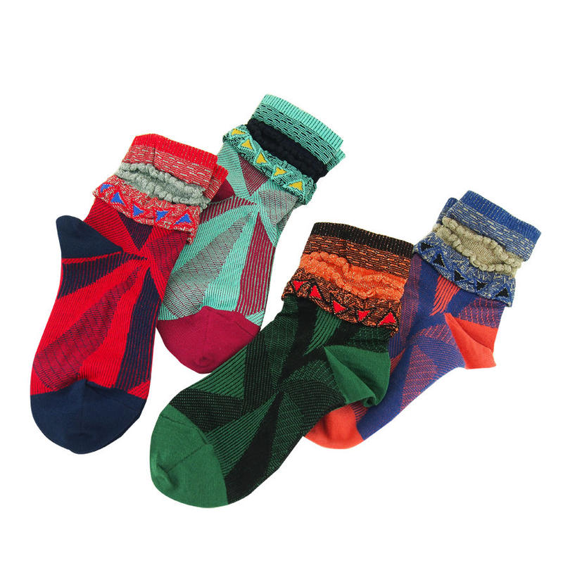【nonnette】Triangular light Socks NS204Y- 4 color