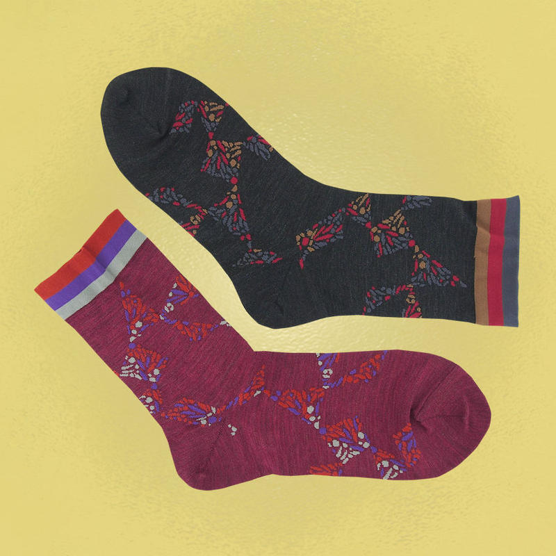 【nonnette】Kaleidoscope silk  Socks NS207A- 2 color