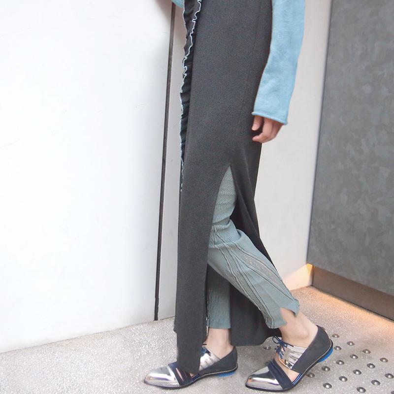 【nonnette】 Innovative form Leggings NL056R- 93 / olive gray