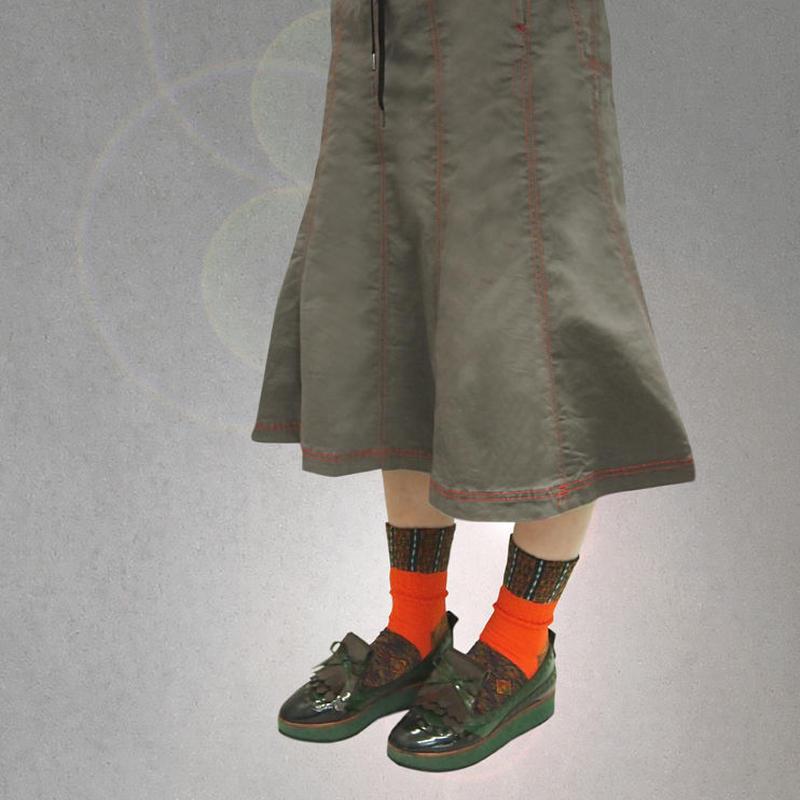 【nonnette】Ankle color  Socks NS199Y- 4 color