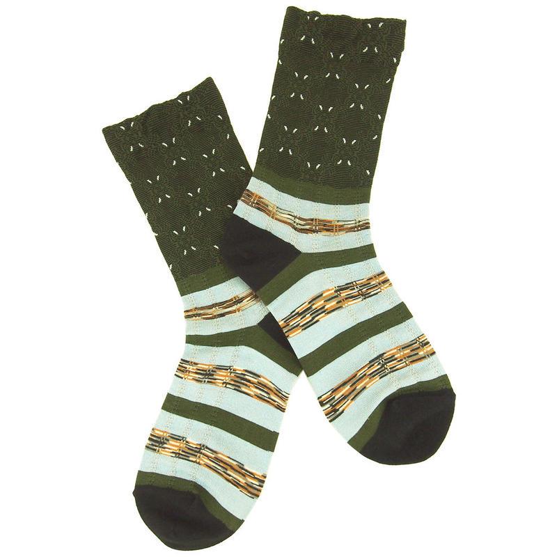 【nonnette】Border mix Socks NS208T- 4 color
