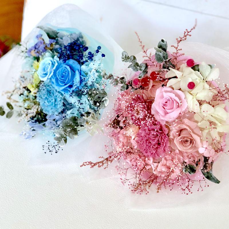 花束 プリザーブドフラワー  花束贈呈 退職祝い  誕生日 などに。自立タイプ