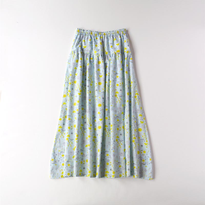 ティアードスカート / light blue