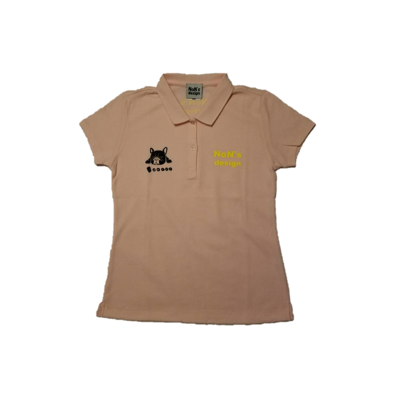 Lady`s-Slim Fit Golf Polo(Light Pink)