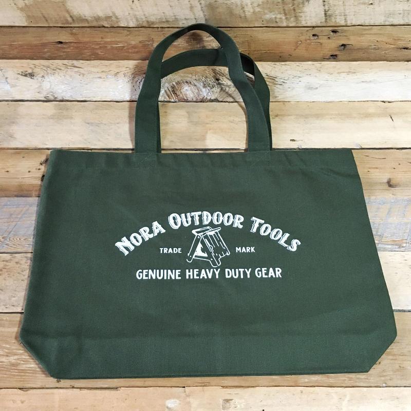 Nora Outdoor Tolls ヘビーキャンバストートバッグ Lサイズ ODカラー