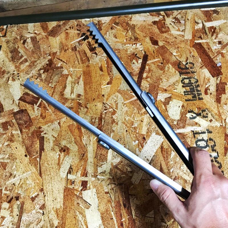 「野良ばさみ」伸縮式火バサミ 黒皮鉄 日本製