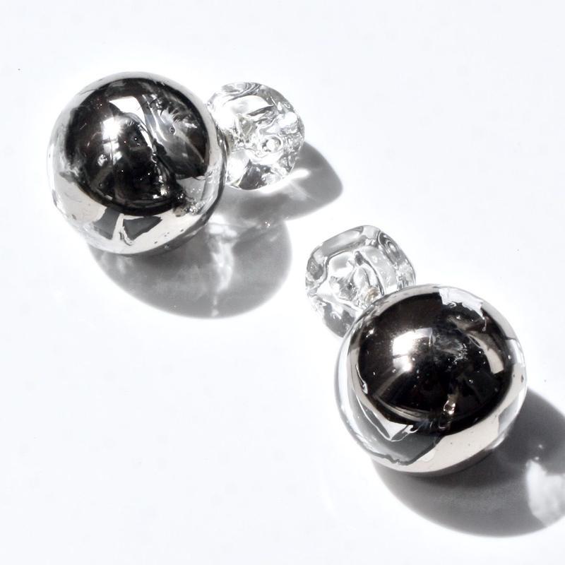 Bonbon Earrings L Platinum / ボンボンピアスL プラチナ