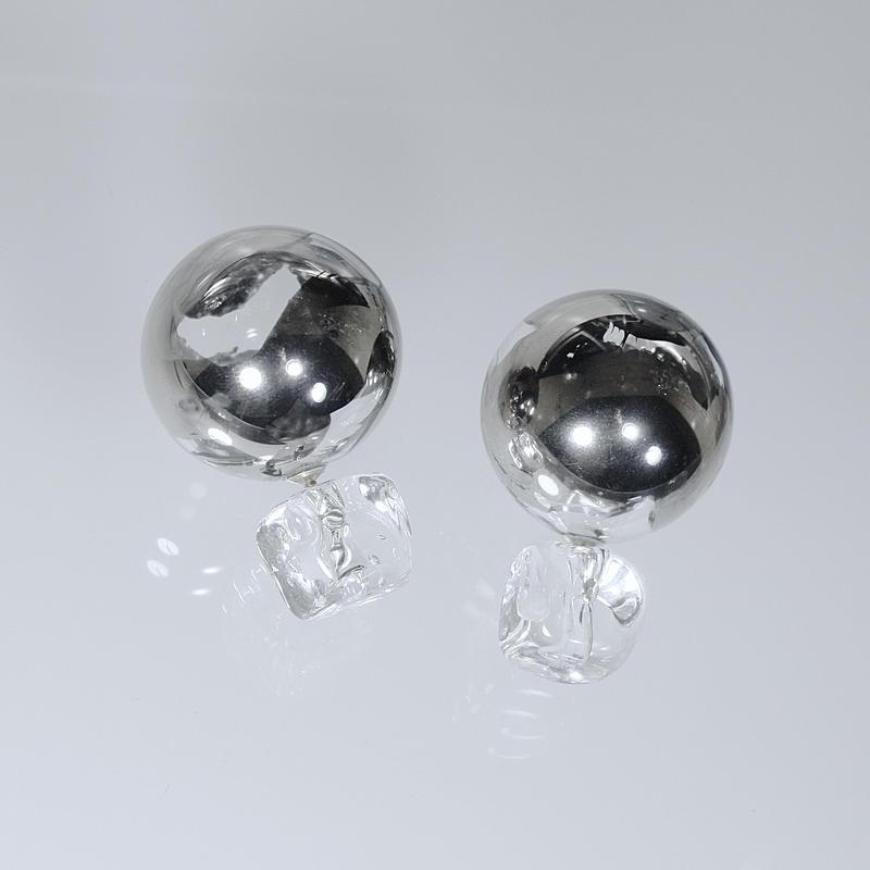 Bonbon Earrings L Platinum / ボンボンピアス プラチナ