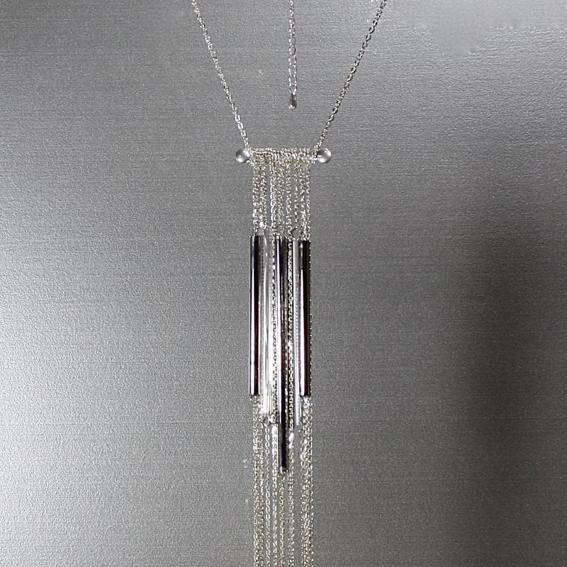 Platinum Long Tube Necklace / プラチナロングチューブネックレス