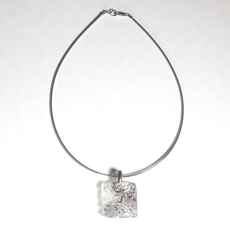 Sugar Squear Necklace Platinum  / シュガースクエアネックレス プラチナ