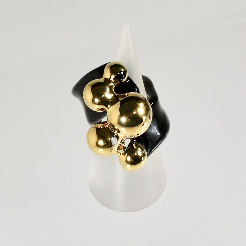 Multi Ball Ring / Gold black