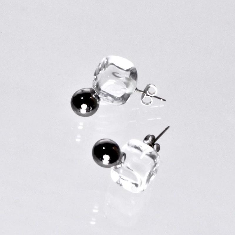 Cube Ball Earrings / キューブボールピアス