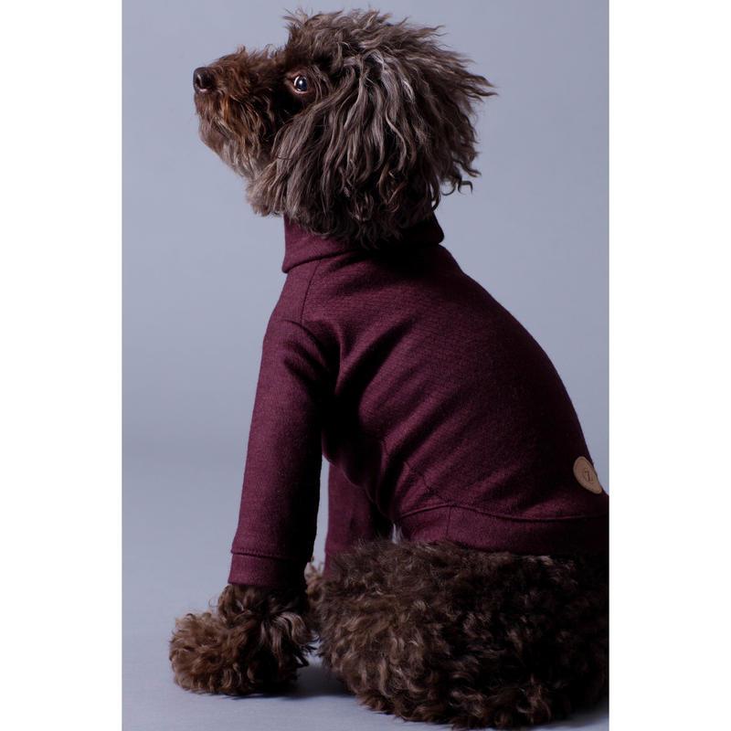 Bordeaux Wool  High Neck Knit Long Sleeve < M ~ M/L  >