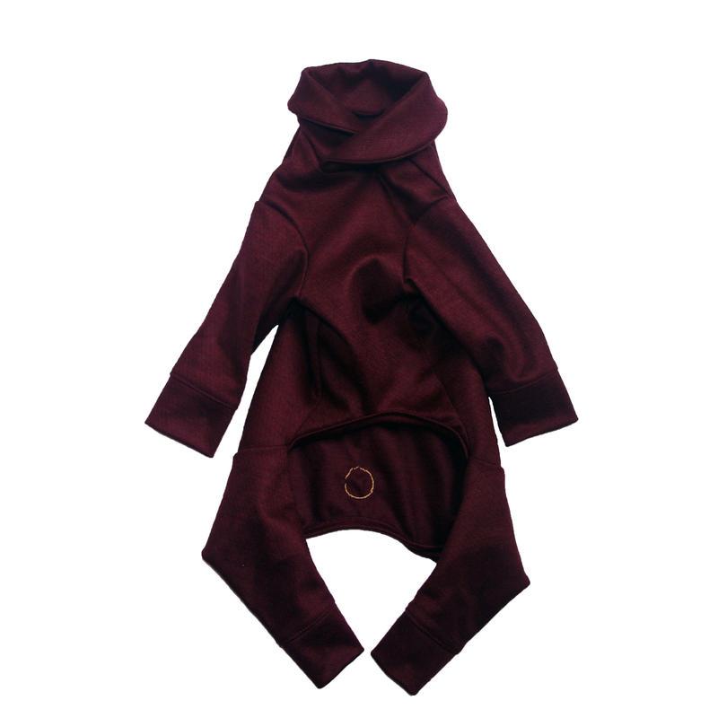 Bordeaux Wool Knit Rompers <M>