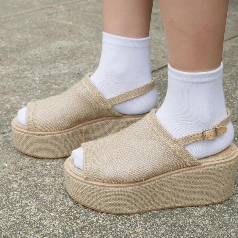 linen sandals
