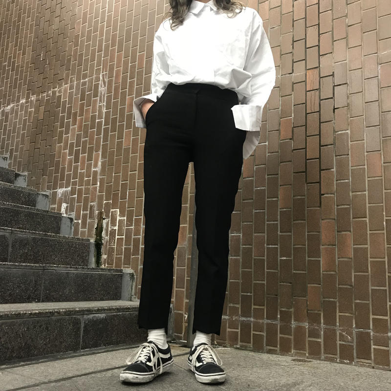 Hem cut slacks pants