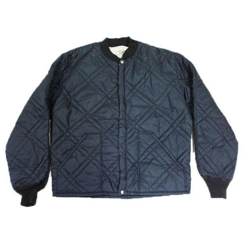 〜70's JCPenny Quilted Liner Jacket (S) Navy JCペニー ナイロン キルティング ライナー ジャケット 紺