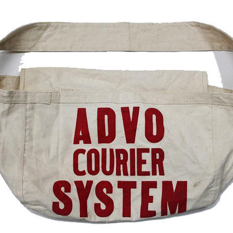 NOS 60's〜 ADVO COURIER SYSTEM NEWSPAPER BAG デッドストック ニュースペーパーバッグ
