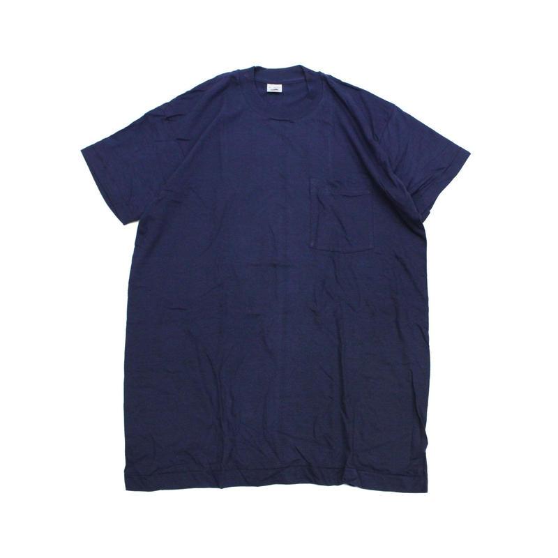 NOS 80's FRUIT OF THE ROOM COTTON T-Shirts with Pocket NAVY(XL) デッドストック フルーツ オブ ザ ルーム ポケットTシャツ ポケT 紺