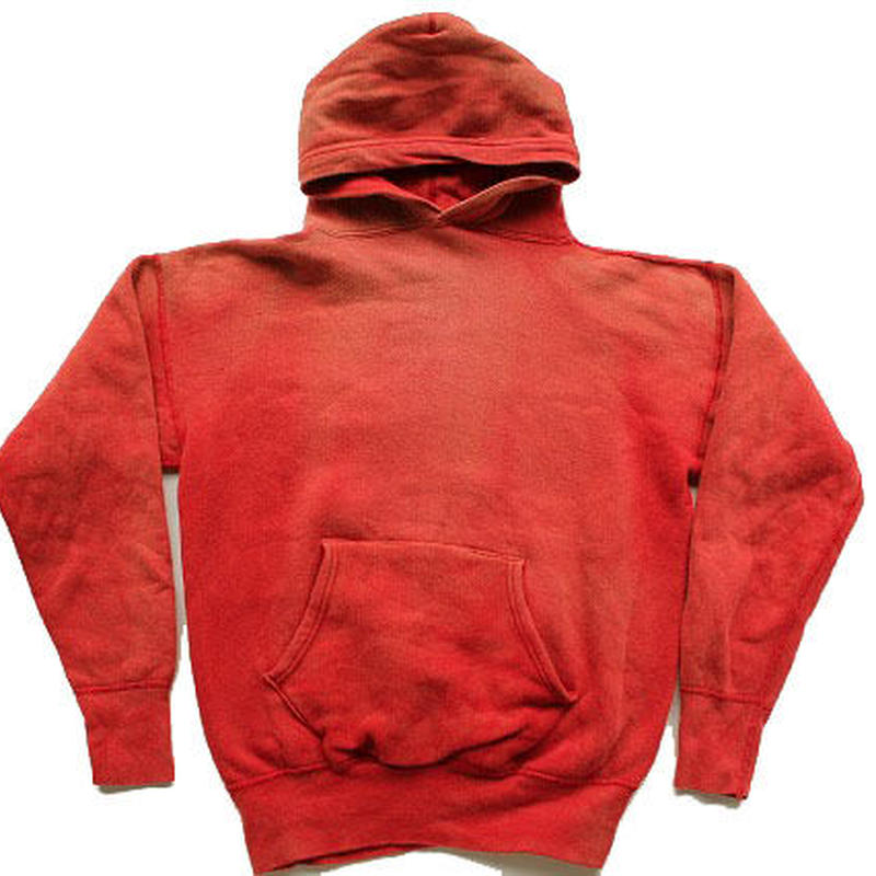 50's〜 UNKNOW HOODED SWEAT SHIRTS RED スエットパーカー 赤