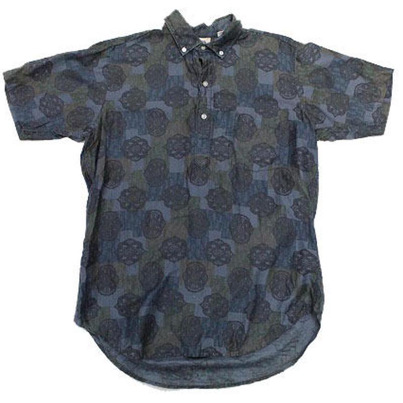 60's KENNINGTON  COTTON PULLOVER S/S B.D.Shirts (M) ケニントン コットン プルオーバー ボタンダウンシャツ 総柄