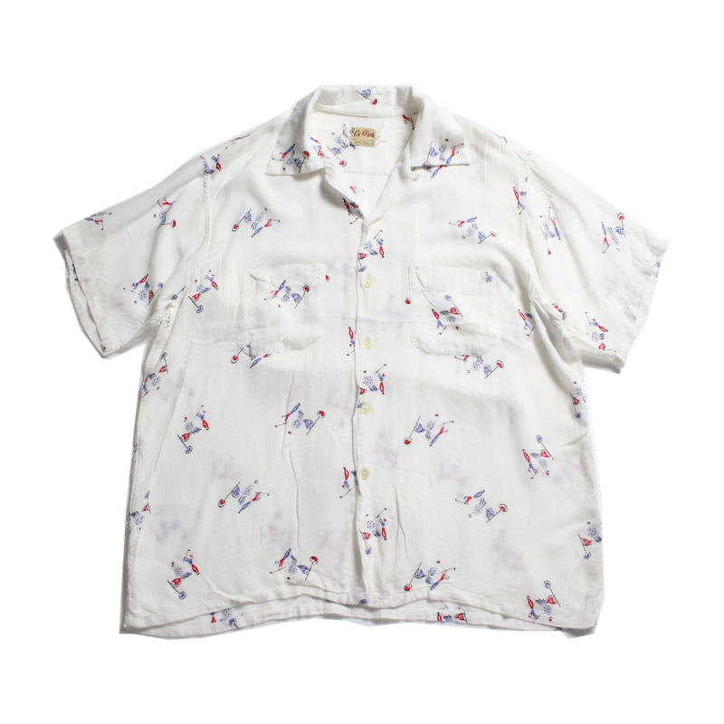 9912f1b2ff6 50's Cy Clyde Golf All Over Print Loop Collar S/S SHIRT (L)