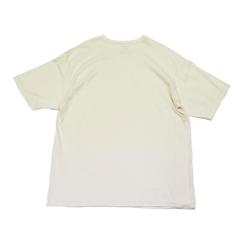 90's CHAMPION PLAIN T-SHIRTS (L) チャンピオン コットン Tシャツ 無地 目無し オートミール系