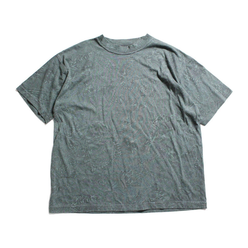 80's BANANA REPUBLIC  SAFARI & TRAVEL All Over Print Cotton T-Shirts (M) バナリパ  サファリ&トラベル Tシャツ 総柄