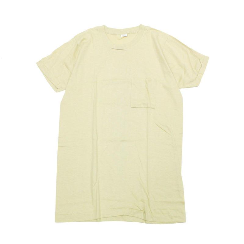 NOS 80's FRUIT OF THE ROOM COTTON T-Shirts with Pocket (XL) デッドストック フルーツ オブ ザ ルーム ポケットTシャツ ポケT カーキ