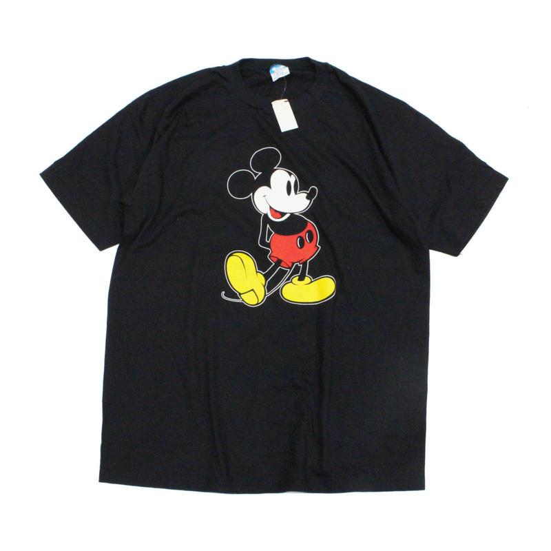 NOS 80's Disney Offical Mickey Mouse T-Shirts  (XL) デッドストック オフィシャル ミッキーマウス Tシャツ 黒 ブラック