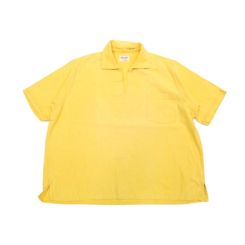 60's Hathaway Pullover S/S Shirts (about L)  ハサウェイ プルオーバーシャツ スキッパーシャツ 黄色