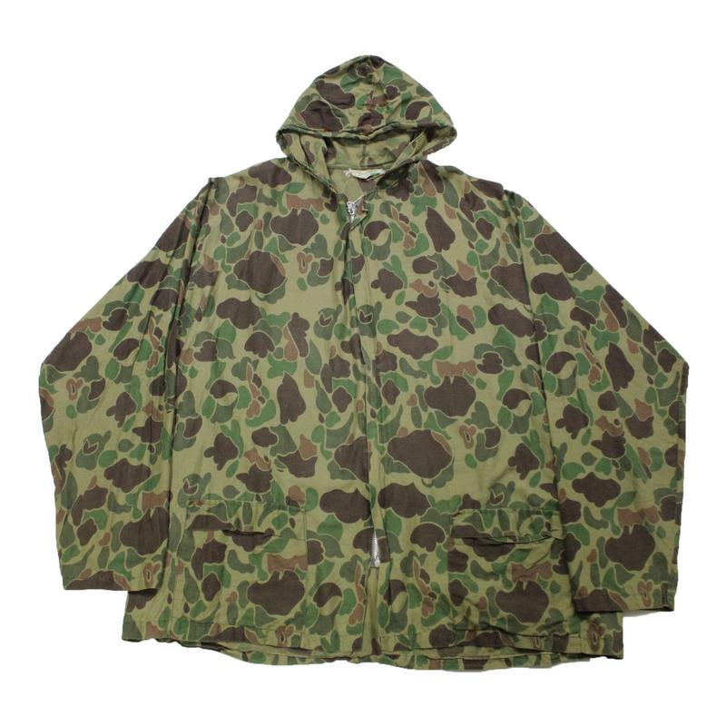 70's KAMO Duck Camo Zip Up Jacket With Hoodie (L)  ダックハンターカモ
