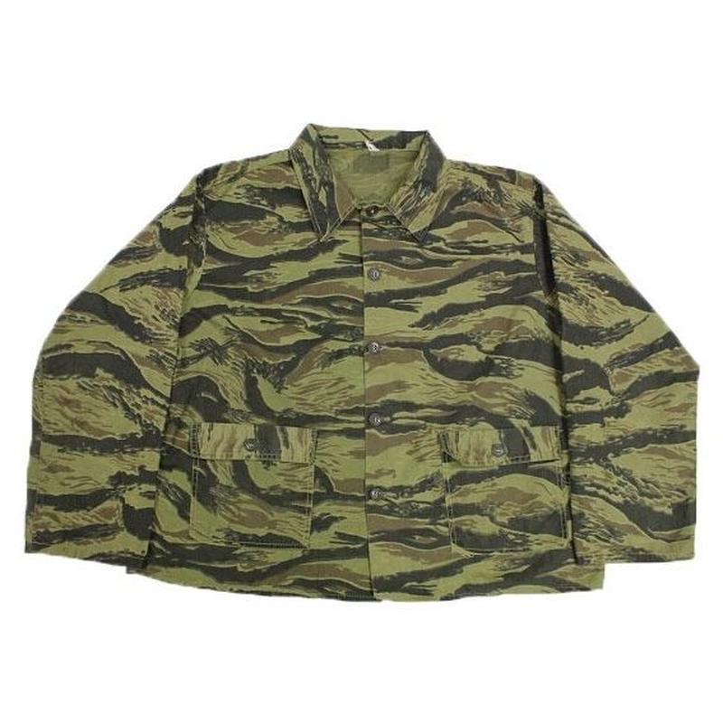 60's~ Civillian USMC Pattern Tiger Stripe Jacket (ABOUT XL)  シビリアン USMCパターン タイガーストライプ ジャケット