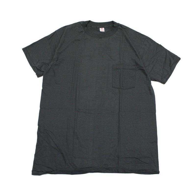 NOS 80's HANES T-Shirts with Pocket black(XL) デッドストック ヘインズ コットン ポケットTシャツ ポケT 黒 ブラック