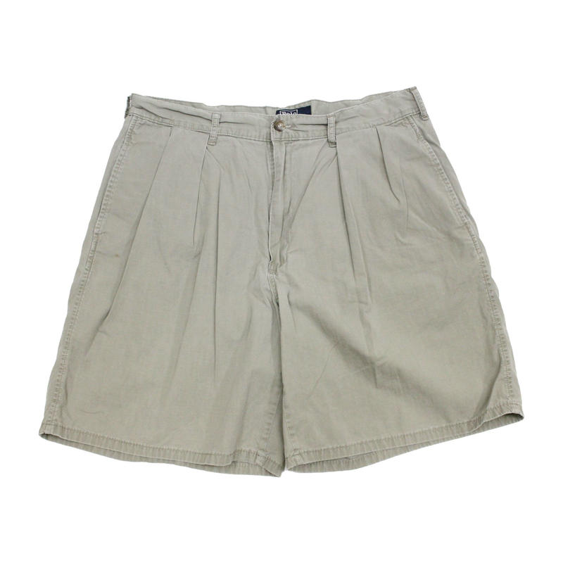 80's~ POLO RALPH LAUREN PLEATED  SHORTS MADE IN USA (34) ポロ ラルフローレン 2タック コットンポプリン ショーツ アメリカ製 ポロチノ