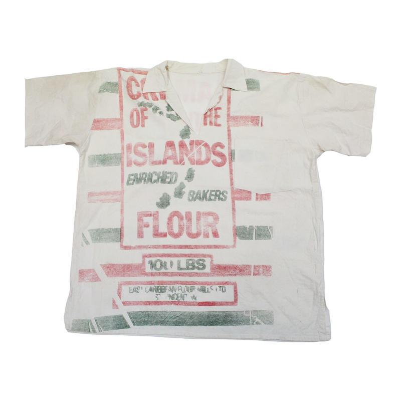 70's Flour Sack  Remake Pullover Shirts (XL) フラワーサック リメイク プルオーバーシャツ  グレインサック