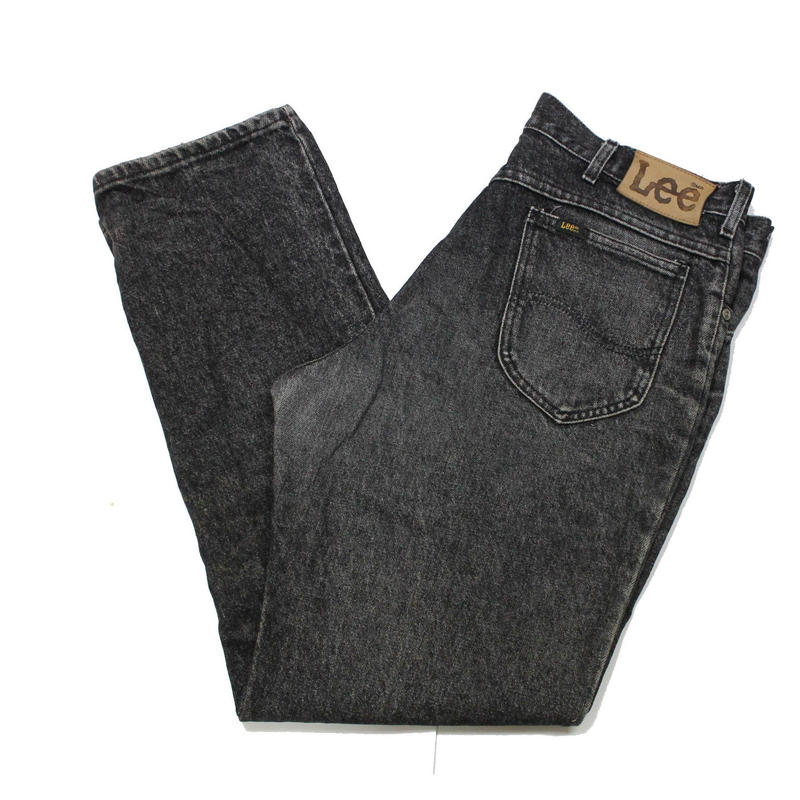 80's Lee 209-0109 Black Denim Pants (36×30) リー ブラックデニムパンツ 先染め