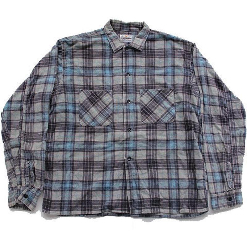 60's KOLESPORT PRINTED FLANNEL SHIRTS(M) プリントフランネルシャツ