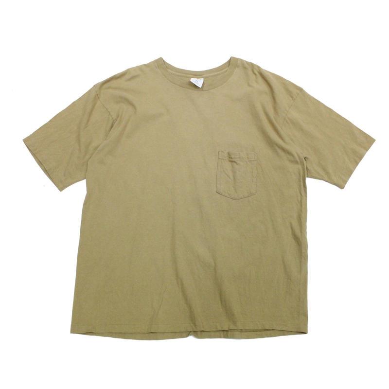 90's GAP COTTON T-Shirts with Pocket Khaki (XXL) ギャップ コットン ポケットTシャツ ポケT カーキ系