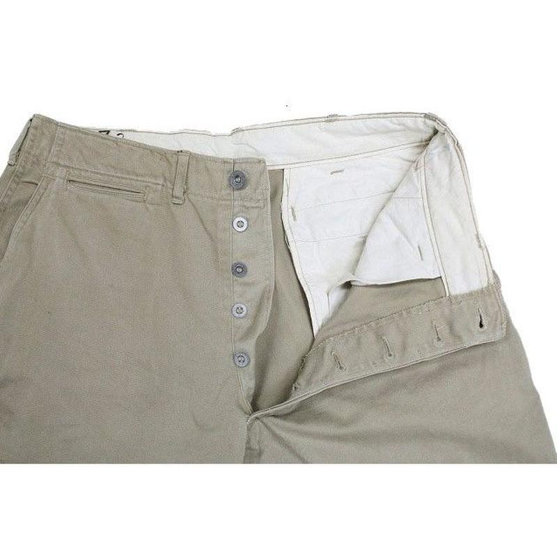 30's~ U.S.ARMY M-37 TROUSERS,COTTON,KHAKI (32×29) チノパンツ メタルチノ M-41