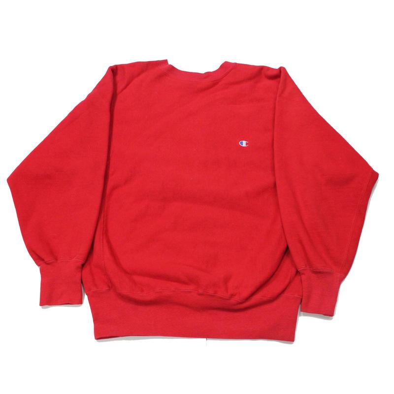 NOS? 90's Champion Reverse Weave Sweat Shirt Red (L) デッドストック? チャンピオン リバースウィーブ 赤 無地 目付き